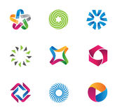 Cool and colorful symbols Stock Photography