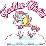 Cool colorful unicorn, fashion victim royalty free illustration