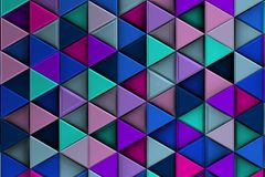 Cool Colorist relief with triangles and shadows. Cool Colorist Background with ordered triangles forming shadows 3d Royalty Free Stock Photo