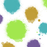 Cool colors ink blots Royalty Free Stock Images