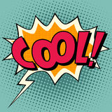 Cool comic book bubble text Royalty Free Stock Image