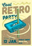 Cool Comic Retro Party Poster Template. Pencil Pass Through The Stock Photos