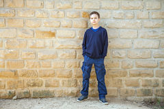Cool confident boy Royalty Free Stock Image