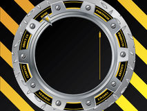 Cool construction web template with cogwheel Stock Photos
