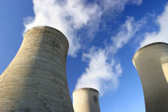 Cool Cooling Towers Royalty Free Stock Photo