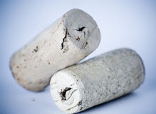 Cool corks. Two wine bottle corks Stock Photos
