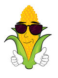 Cool corn cartoon Stock Images