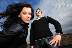 Cool couple Stock Photography