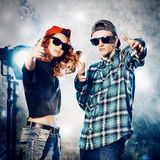 Cool couple Royalty Free Stock Image