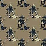 Cool cowboy seamless pattern. Original design for print or digital media Stock Images