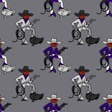 Cool cowboy seamless pattern. Original design for print or digital media Royalty Free Stock Photo