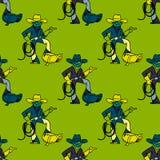 Cool cowboy seamless pattern. Original design for print or digital media Stock Image