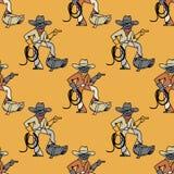Cool cowboy seamless pattern. Original design for print or digital media Stock Photography