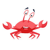 Cool crab. Funny monster. Print. Cute vector illustration. Comic sea character Royalty Free Stock Image