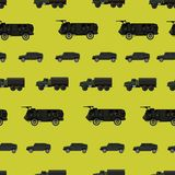 Cool and creative army military car seamless pattern vector stock illustration