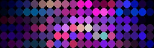 Lilac purple blue pink mosaic banner. Disco decoration background. royalty free illustration