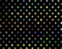 Mosaic holographic yellow green lilac blue cristals on black background. Iridescent gradient. royalty free illustration