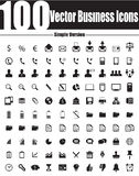 100 Vector Business Icons - Simple Version Stock Images