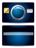 Cool credit card with button Stock Images