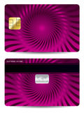 Cool credit card design Royalty Free Stock Image