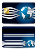 Cool credit card with globe Royalty Free Stock Photos