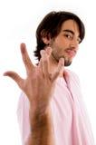 cool crossed fingers guy posing Στοκ εικόνα με δικαίωμα ελεύθερης χρήσης