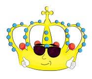 Cool crown cartoon Stock Image