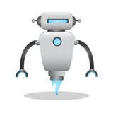 Cool and cute 3d robot illustration Royalty Free Stock Photo