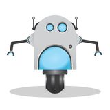 Cool and cute 3d robot illustration Royalty Free Stock Photos