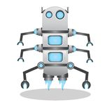 Cool and cute 3d robot illustration Stock Image