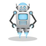 Cool and cute 3d robot illustration Stock Photography