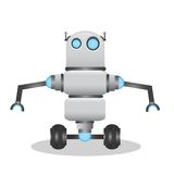 Cool and cute 3d robot illustration Royalty Free Stock Image
