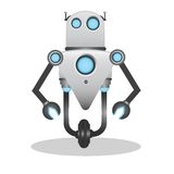 Cool and cute 3d robot illustration Stock Photo