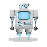 Cool and cute 3d robot illustration Royalty Free Stock Images