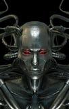 Cool cyber steel man royalty free illustration