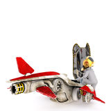 Cool 3D illustrated rendering of aircraft pilot Royalty Free Stock Photo