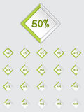 Cool 3d loader icon set in green Stock Images