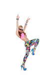 Cool dancer girl in sunglasses Royalty Free Stock Photos