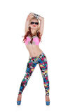 Cool dancer girl in sunglasses Stock Photo