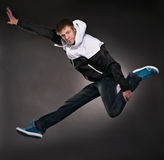 Cool dancer man royalty free stock photos