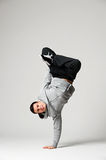 Cool dancer over grey background Stock Photo