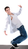 Cool dancer showing his skills Royalty Free Stock Images