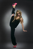 Cool dancer woman Royalty Free Stock Photo
