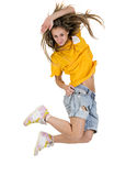 Cool dancer woman stock photos