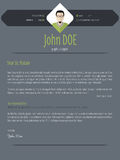 Cool dark cover letter resume cv template Royalty Free Stock Photos