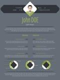 Cool dark modern resume cv template Stock Photography