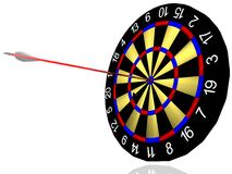 Cool darts. 3d cool darts with arow Stock Image