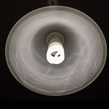 Cool daylight cfl bulb lamp with a lamp shade Royalty Free Stock Photos