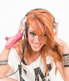 Cool deejay listening to the music Royalty Free Stock Photos