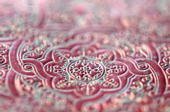 Cool deep red ornamental pattern. Stock Photo